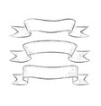 collection line art ribbon banners vector image