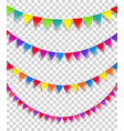 color flag strings clipart isolated on vector image vector image