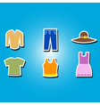 color icons with garments vector image