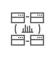 data analysis statistics analytics - minimal vector image
