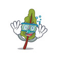 diving chard character cartoon style vector image