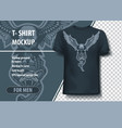 eagle with snake in claws t-shirt template vector image vector image