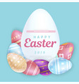 easter writing on egg vector image