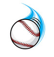 fast paced flying baseball vector image