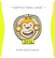 Fire Monkey Three vector image vector image