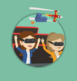 friends in vr headset riding on roller coaster vector image