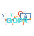 gdpr word design with man vector image vector image