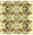 gold 3d baroque seamless pattern golden vector image vector image