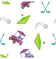 Golf pattern cartoon style vector image