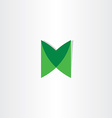 green letter m logotype design vector image vector image