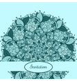 Green Vintage ethnic ornament card with mandala vector image vector image