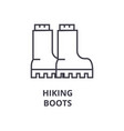 hiking boots line icon outline sign linear vector image