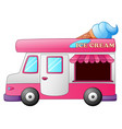 ice cream truck with ice cream cone on top vector image