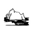 iceberg armada in north sea vector image vector image
