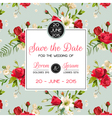 Invitation or Congratulation Card for Wedding vector image vector image