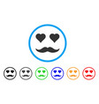 lover smile rounded icon vector image