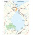 map venezuelan sea maracaibo lake vector image vector image