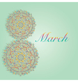 March 8 Womans day greeting card vector image vector image