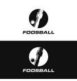 minimalist logo icon foosball vector image