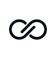 monochrome infinity symbol vector image vector image