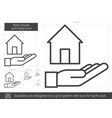 new house purchase line icon vector image