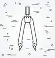 Pair of compasses icon thin line for web and mobil vector image