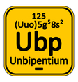 Periodic table element unbipentium icon vector image vector image