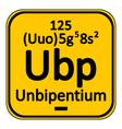 Periodic table element unbipentium icon vector image vector image
