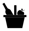 picnic basket icon simple camping vector image vector image