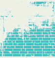 plastered brick wall vector image vector image