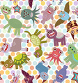 Polka dot background seamless pattern Funny cute vector image vector image