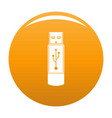 portable flash drive icon orange vector image vector image