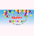 positive holiday birthday banner vector image vector image