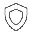 protection line icon safety and security shield vector image vector image