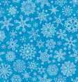 Seamless outlined snowflakes pattern vector image vector image