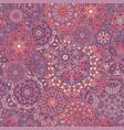 seamless pattern mandala ornament vintage vector image vector image