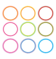 Set of Circle Frames On White vector image vector image