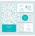 Set of flyer brochure and business cards for vector image