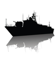 ship detailed silhouette vector image vector image