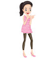 Simple Party Dress vector image
