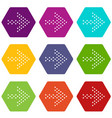 small dots right arrow icons set 9 vector image vector image