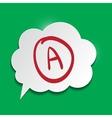 Speak cloud on green background vector image vector image