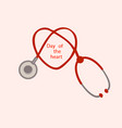 stethoscope on a pink background vector image