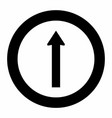 straight traffic sign vector image vector image