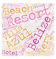 The Azul Resort On Ambergris Caye In Belize text vector image vector image