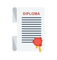 university diploma isolated vector image vector image