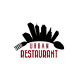 urban restaurant design template vector image
