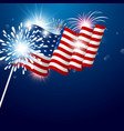 usa 4th of july independence day design vector image vector image