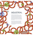 industrial manufacturing template vector image