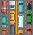 highway road with cars and vehicles top vector image